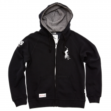 London 08 Zip Hoody - Black
